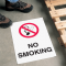 Safety Floor Signs- No Smoking (With Graphic)