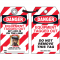 Self-Laminating Employee Photo Lockout Tags- Danger Equipment Tagged Out