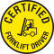Forklift Certification Label - Certified