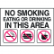 Housekeeping Labels - No Smoking Eating Or Drinking