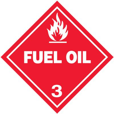 Fuel Oil 3 D.O.T. Placards