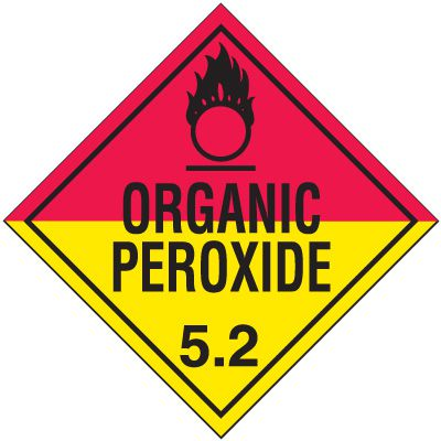 DOT Division 5.2 Organic Peroxide Placards