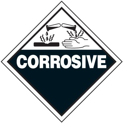 Corrosive D.O.T. Placards
