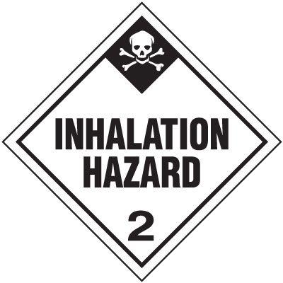Inhalation Hazard 2 D.O.T. Placards