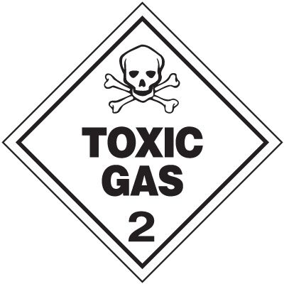 Toxic Gas 2 D.O.T. Placards