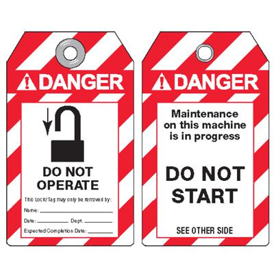 Danger Do Not Operate - ANSI Lockout Tags