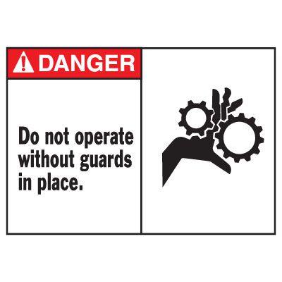 Danger Do Not Operate Equipment Decal
