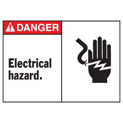 Danger Electrical Hazard Equipment Decal