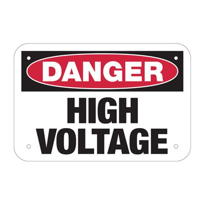Danger High Voltage - Electrical Safety Signs & Labels