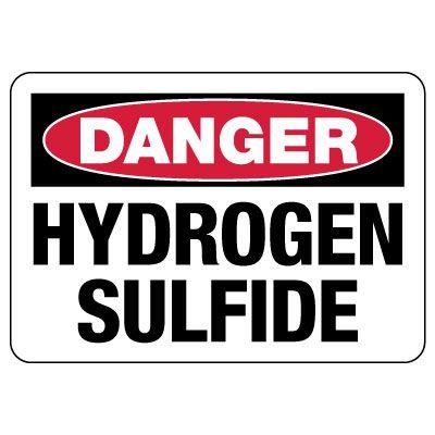 Danger: Hydrogen Sulfide Sign