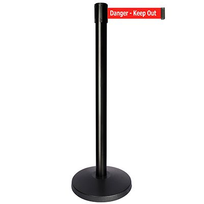 Danger Keep Out - Queue way® Plus Stanchion