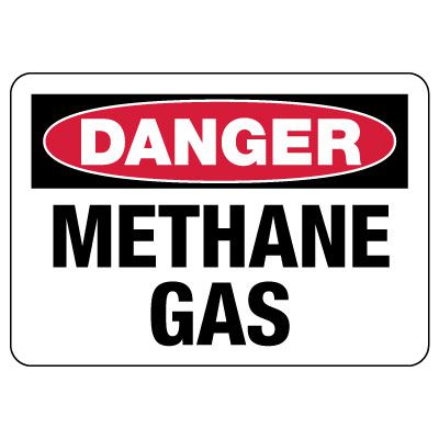 Danger: Methane Gas Sign