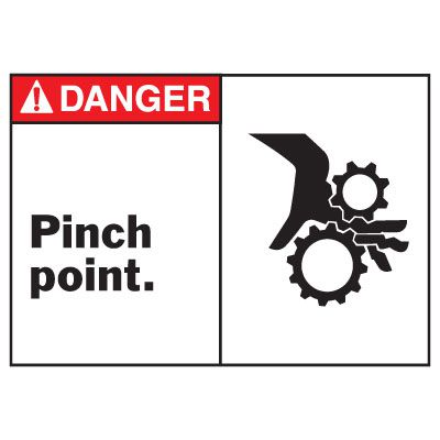 Danger Pinch Point Equipment Decal