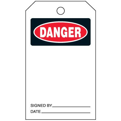 Danger - Safety Tags On-A-Roll