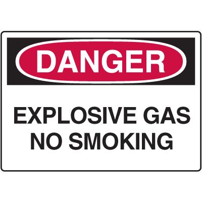 Danger Signs - Explosive Gas No Smoking