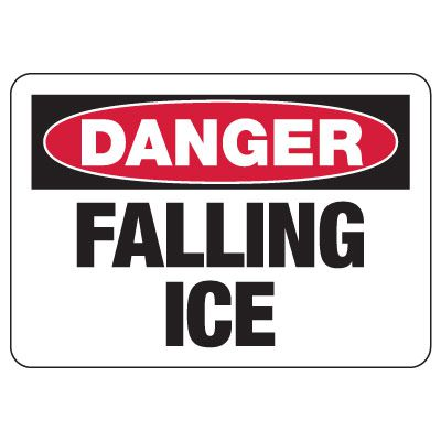 Danger Signs - Falling Ice