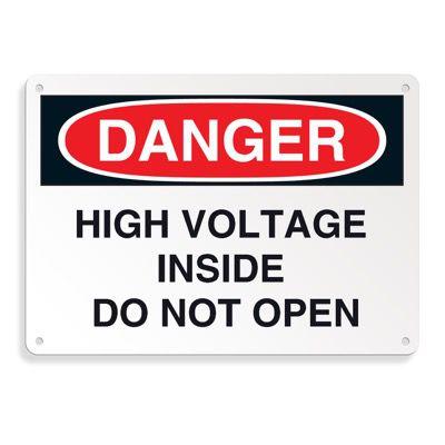Danger Signs - High Voltage Inside Do Not Open