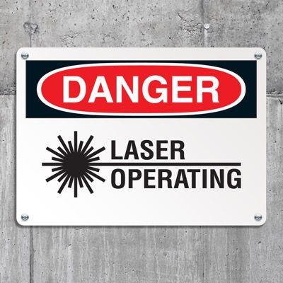 Danger Signs - Laser Operating