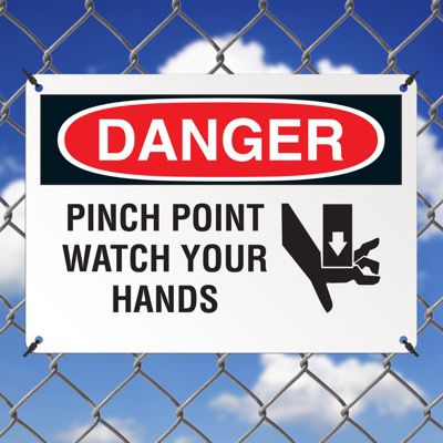 Danger Signs - Pinch Point Watch Your Hands