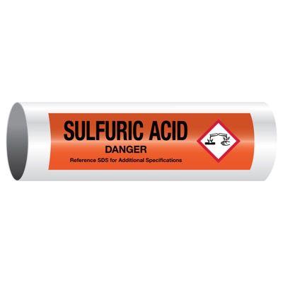 Danger Sulfuric Acid - GHS Pipe Markers