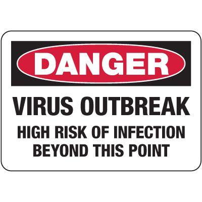 Danger Virus Outbreak, Risk Of Infection Sign