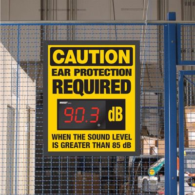 Decibel Meter Sign Kit - Caution Ear Protection Required