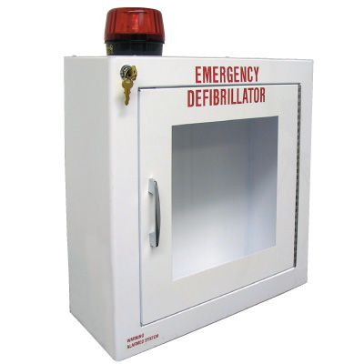 Large Defibrillator AED Cabinet With Alarm And Strobe