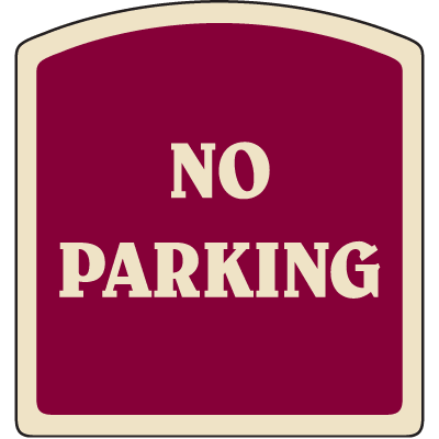 Designer Property Signs - Reserved Parking Unauthorized Vehicle Will Be Towed