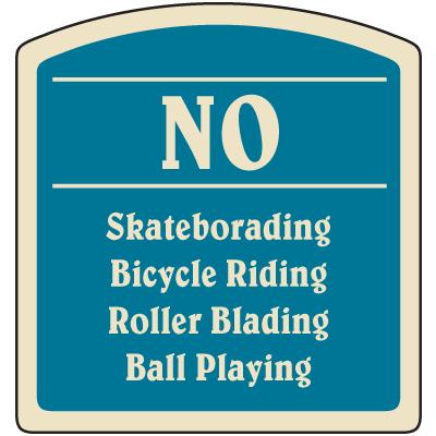 Designer Property Signs - No Skateboarding