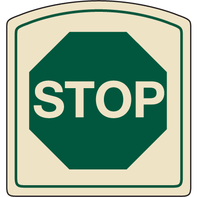 Designer Property Signs - Stop