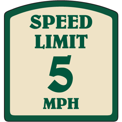 Designer Property Signs - Speed Limit 5 MPH
