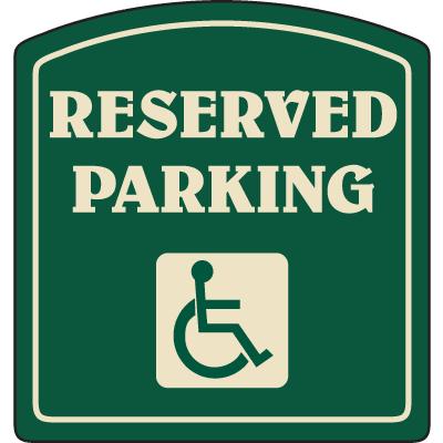 Designer Property Signs - Reserved Parking (for PWDs)