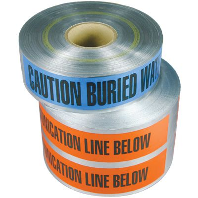Detectable Underground Warning Tape - Caution Buried Communication Line Below