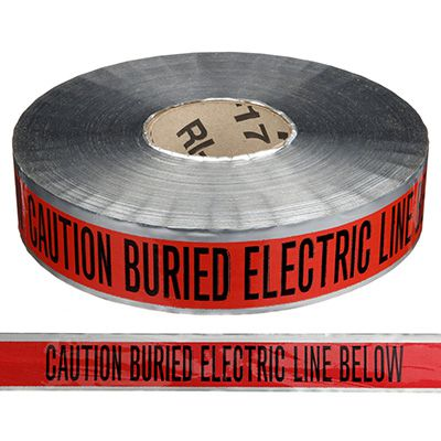Detectable Underground Warning Tape - Caution Buried Electric Line Below