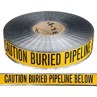 Detectable Underground Warning Tape - Caution Buried Pipeline Below
