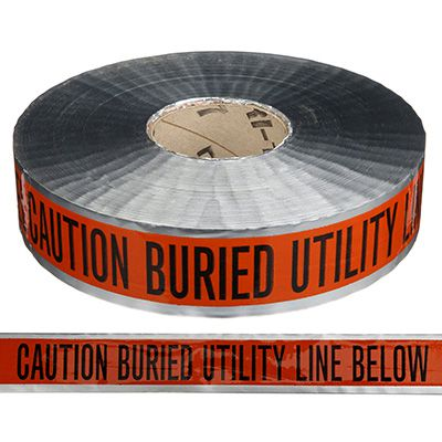 Detectable Underground Warning Tape - Caution Buried Utility Line Below