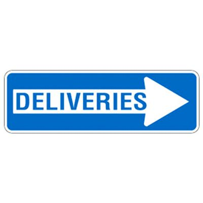 Directional Arrow Traffic Signs - Deliveries (Right Arrow)