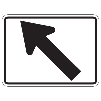 Directional Arrow Traffic Signs - Diagonal Left Arrow