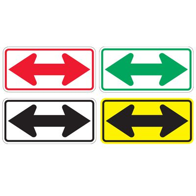 Directional Arrow Traffic Signs - Double Arrow