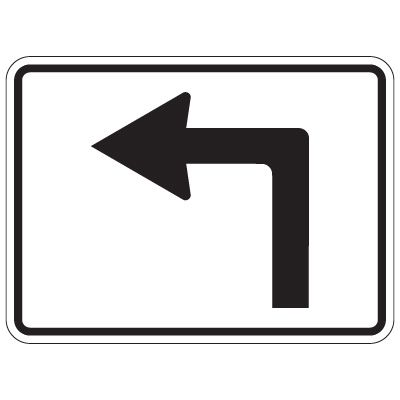 Directional Arrow Traffic Signs - Left Turn Arrow