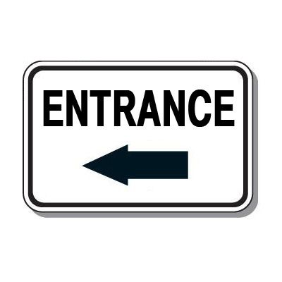 Directional Parking Signs - Entrance (Left Arrow)