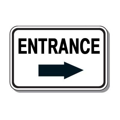 Directional Parking Signs - Entrance (Right Arrow)