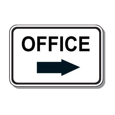 Directional Parking Signs - Office (Right Arrow)