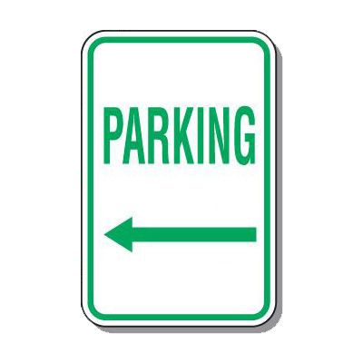 Directional Parking Signs - Parking (Arrow Left)