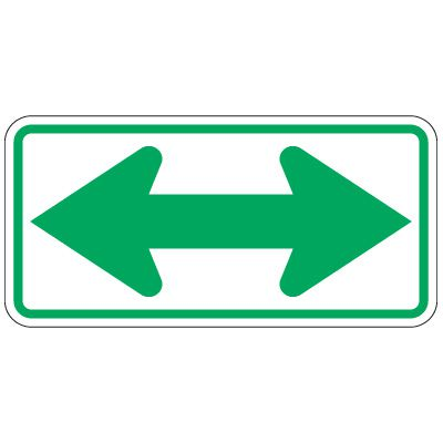 Directional Traffic Signs - Double Arrow
