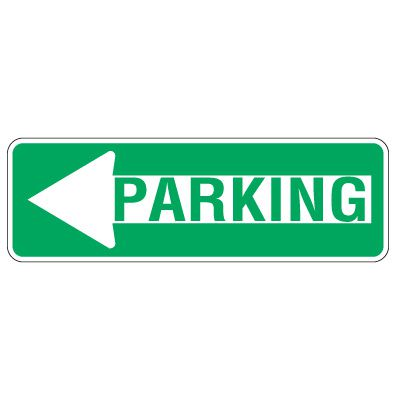Directional Traffic Signs - Left Arrow Parking