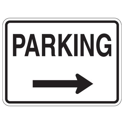 Directional Traffic Signs - Parking (Right Arrow)