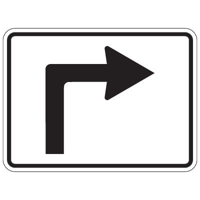 Directional Traffic Signs - Right Turn Arrow