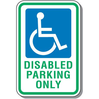Disabled Parking Signs - Disabled Parking Only