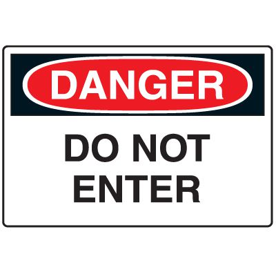 Disposable Plastic Corrugated Signs - Danger Do Not Enter